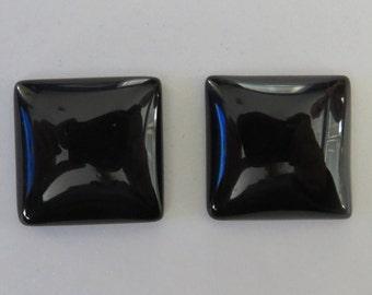 Black Onyx Square Stone Cufflinks