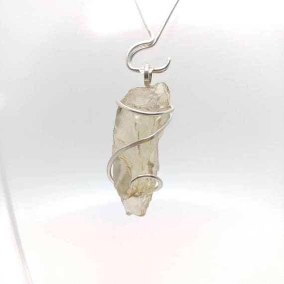 Raw Oregon Sunstone Pendant | Raw Stone Pendant | Sterling Silver Pendant | Oregon Sunstone Necklace | Raw Oregon Sunstone Crystal Pendant