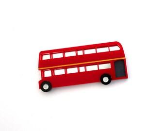Double Decker Bus brooch