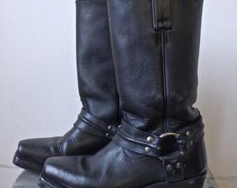 Black Frye Harness Boots Ladies size 6.5