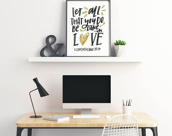 Done In Love Art Print