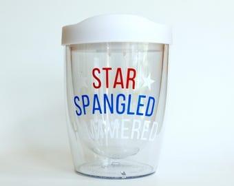 Star Spangled Hammered American Acrylic Wine Tumbler