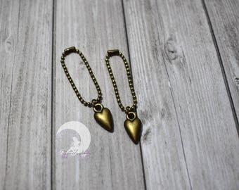 """""""Heart"""" necklace for Pullip, Blythe, Dal, Yeolume, Monster High, Barbie dolls, YOSD, BJD 1/6"""