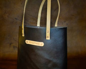 The Kathryn Tote in saddle tan hennessy  / Leather Tote Bag / Hand stitched / Made in USA