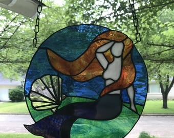Stain Glass Mermaid Etsy