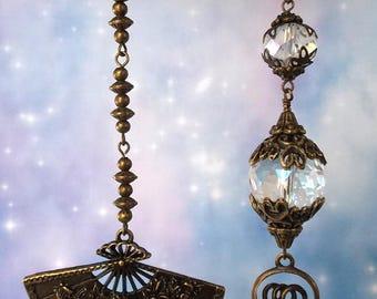 Crystal Fan Pulls, Light Pulls, Ceiling Fan Pulls, Lamp Pulls, Crystal Light Pulls, Ball Chain Pull, Ball Chain Pull, Bronze, Crystal Beads