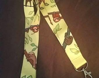 Sloth Lanyard
