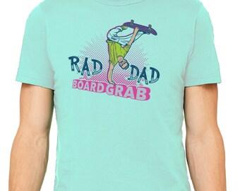 Rad Dad Board Grab Tee, t-shirt, dad shirt, t shirt, gift for dad, dad stuff, coffee, original