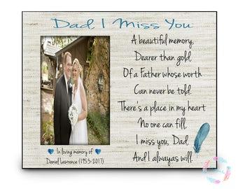 In Memory of Dad, Memorial Gift, Remembrance Dad, Deceased Father, Memorial Poem, Memory Gift, Personalized Memorial Gift, Remembrance Gift