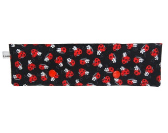 Double Pointed Knitting Needle Case-Lady Bugs DPN Holder-Knitting Accessory-Knitters Gift
