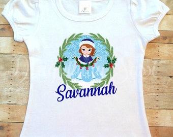 Sofia the First Shirt, Sofia, Personalized Shirt, Christmas Shirt, Personalized Christmas Shirt, Holiday Shirt, Christmas Sofia Shirt