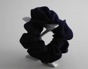 Blue, Pure Silk, Hair  Scrunchie, Band