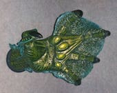 LAGOON CREATURE HAND Guitar Hanger. Painted Wall-Mounted Display - Left Hand - Hook: Clothes, Jewelry, Towel Rack...