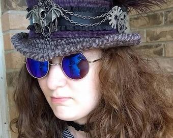 Silas Steampunk Hat - Crochet Pattern