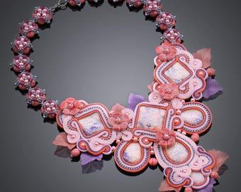 Soutache necklace Rosaleen