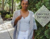 Astrid Ruana Crochet Pattern // PDF Pattern Oversized Fall Sweater Neutral Striped Cardigan Tutorial Easy Crochet Garment Handmade Jacket