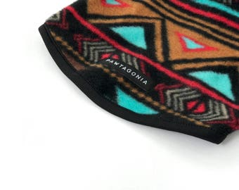 Custom Dog Sweater, RaglanFleece Pullover In Southwestern // Aztec Inspired Print, The Turquesa Sweater by Pawtagonia