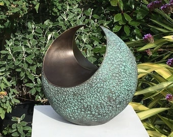 Curvation - medium, Sculpture abstract, garden sculpture, bronze sculpture, indoor sculpture, garden art, modern sculpture