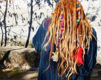 Purple haze single dread clip in - synthetic hair