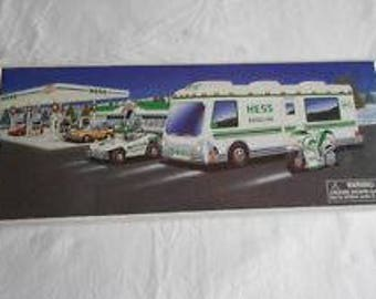 1998 HESS Recreation Van with Dune Buggy and Motorcycle NEW in Box Mint