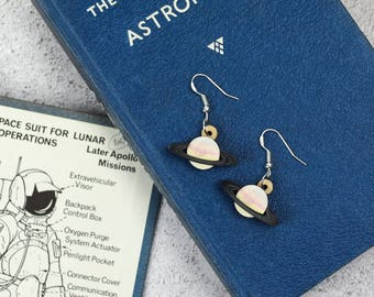 Saturn Drop Earrings | Space Statement Earrings | Planet Jewellery