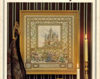 The Castle Sampler Cross Stitch Pattern Chart Teresa Wentzler Medieval Lord Lady Musicians Just Crossstitch