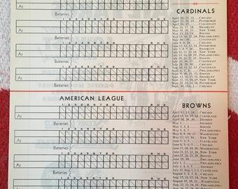 Original 1933 Major League Baseball Scoresheet Scorecard for the St. Louis  Cardinals and St. Louis Browns Missouri Pacific Lines Railroad