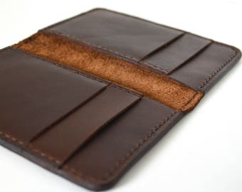 Men's Brown Leather Wallet, Small Wallet, Card Wallet, Front Pocket Wallet