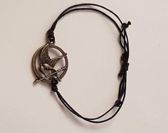 Handmade Hunger Games Bracelet   In Horse Brass