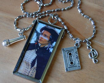 Adam Ant~ Then and Now Necklace, Double Sided