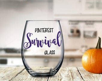 Funny Pinterest Gift, Internet Surfing Glass, Funny Gift for Her, Birthday Anniversary Present for Woman Gal Girl