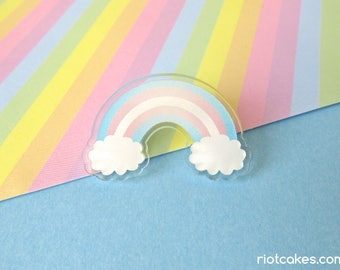 Transgender Rainbow Pride Acrylic Pin
