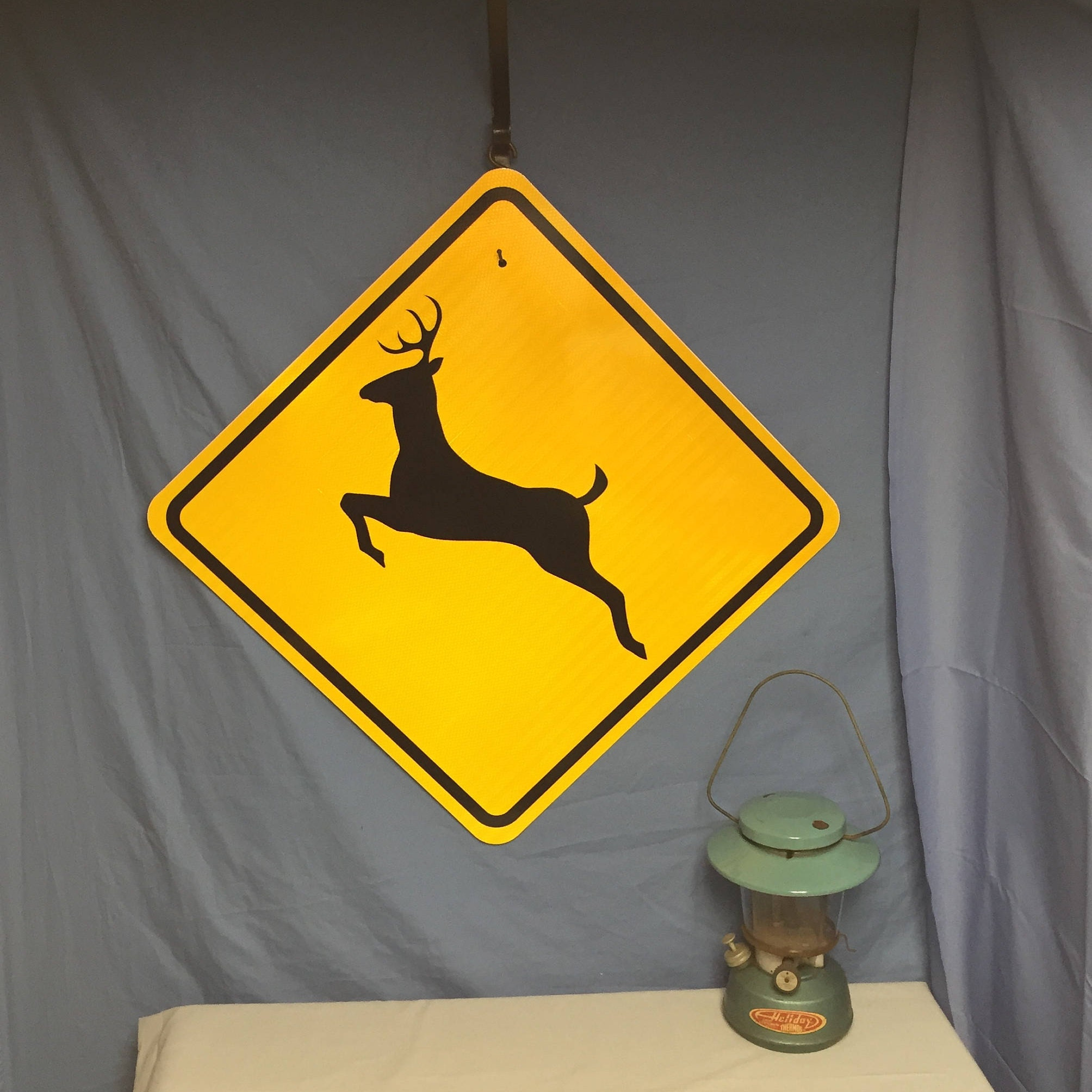 Man Cave Road Signs : An authentic nos deer crossing warning road sign pa