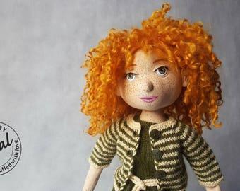 Kaya - textile doll