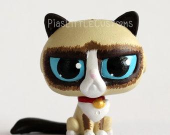 Grumpy Cat Kitty (by Piaslittlecustoms) Littlest Pet Shop LPS custom