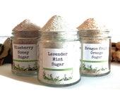 Scented Sugar Spice Mix Flavored Rimming Sanding Popcorn Seasoning Mixed Berry Lavender Honey Dragon Fruit Orange Vanilla Bean Foodie Gift