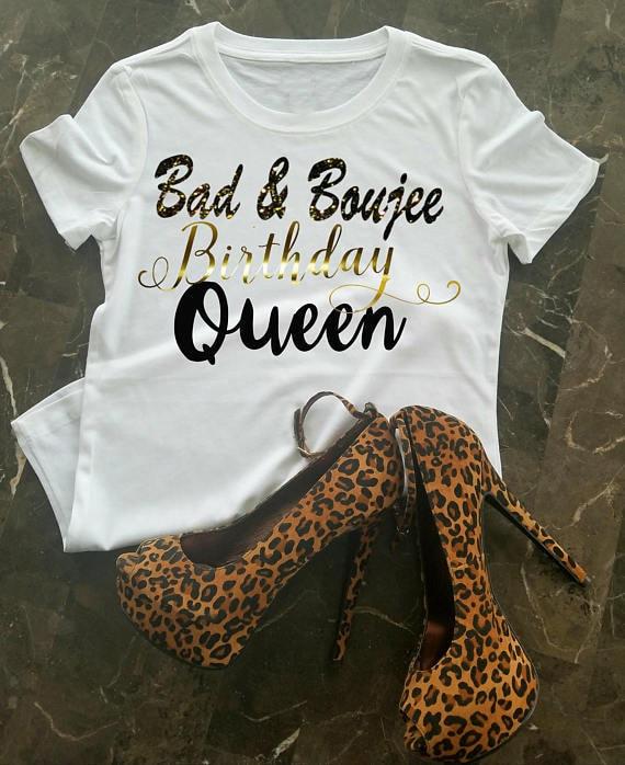 837fd343269a ... January Birthday Queen: Birthday T-Shirt Bad & Boujee Birthday Shirt  Birthday Queen
