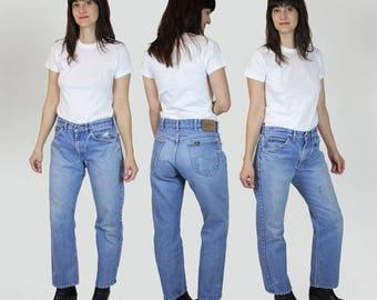 Lee Jeans 31 - High Waisted Denim Jeans - Lee Jeans Vintage - Lee Riders - 31 x 28