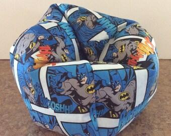 """18"""" Doll,American Doll Bean Bag Chair,Furniture  (BATMAN)NEW"""