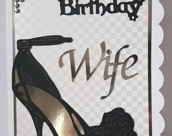 Handmade Wife Birthday card