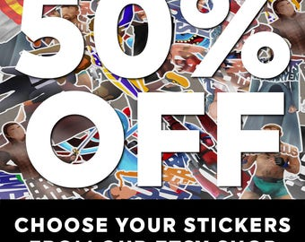 Any 10 Small Stickers of Your Choosing and Save 50%