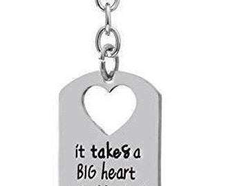 It takes a big heart teacher keychain