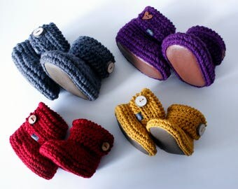 Baby Booties Infant Shoes Crochet Baby Shoes Knit Baby Booties Infant Slippers Mukluks Baby Slippers Baby Gift Pregnancy Gift Shower Gift