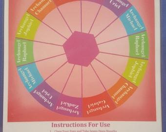 Archangel Pendulum Dowsing A4 information chart