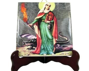 Saint Martha of Bethany - St Martha icon on tile - St Martha art print - St Martha gift - gift for homemakers - homemakers gifts - saints