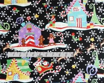 Christmas Fabric, Santa's Village Christmas Quilt Fabric, In The Beginning Fabric It's Christmas 2JHF 2 Jennifer Heynen, Cotton