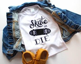 Toddler Skateboard Tee - Skateboard Shirt - Trendy Baby - Baby Boy Shirts - Baby Boy Clothes Hipster - Hipster Baby - Unique Baby Clothes
