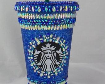 Crystal Embellished Grande Glitter Starbucks Cup