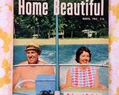 Retro 1960s Australian Home Beautiful magazine - retro house + landscaping inspiration - March 1963 vintage style inspiration