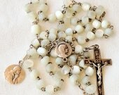 Rosary - Mother of Pearl French Silver - Saint Mary Magdalene